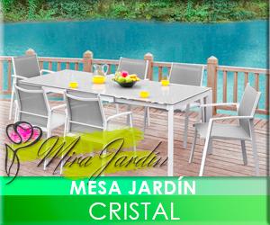 Mesa Cristal Jardín