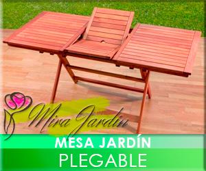 Mesa Jardín  Plegable