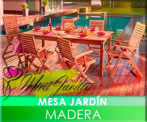 Mesa Jardín Madera