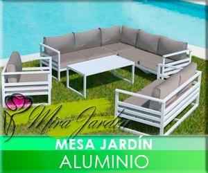 Mesa Jardín Aluminio
