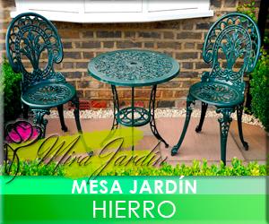 Mesa Jardín Hierro
